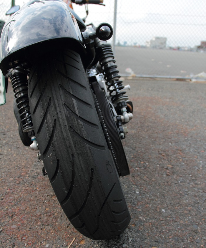 ハーレーのタイヤの空気圧